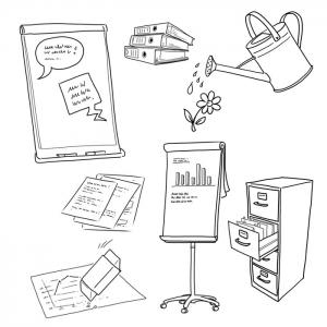 Infografik für Büroartikel
